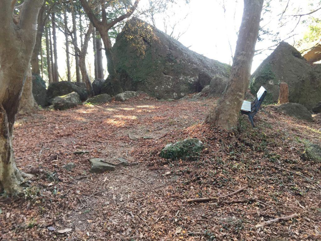 石谷山 八十八石 ハイキングコース 大きな岩が山頂にも