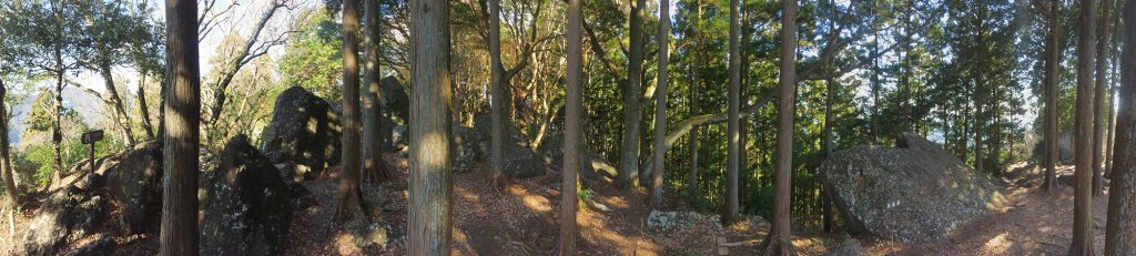 石谷山ハイキングコース 広場の様子