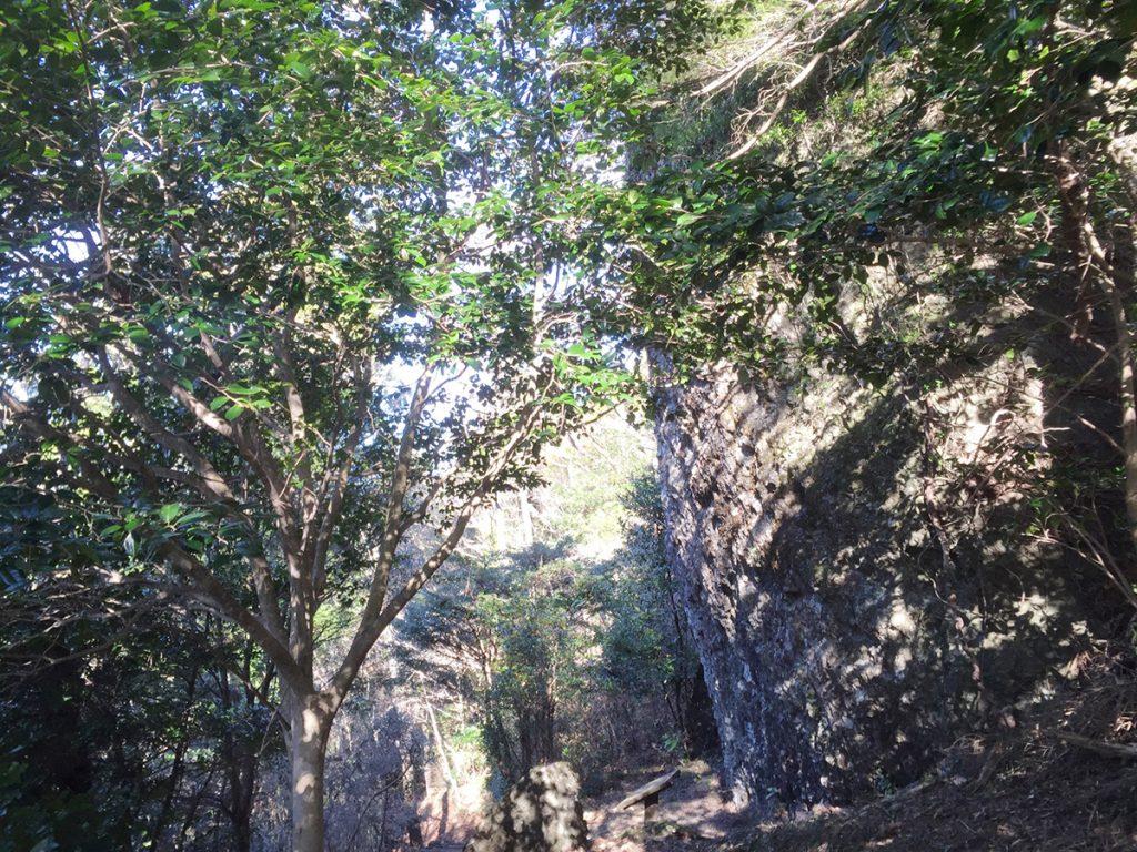 石谷山ハイキングコース びく石の様子