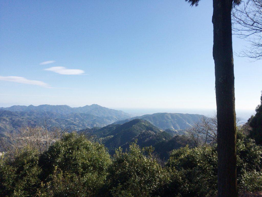 びく石ハイキングコース-山頂の見晴らし