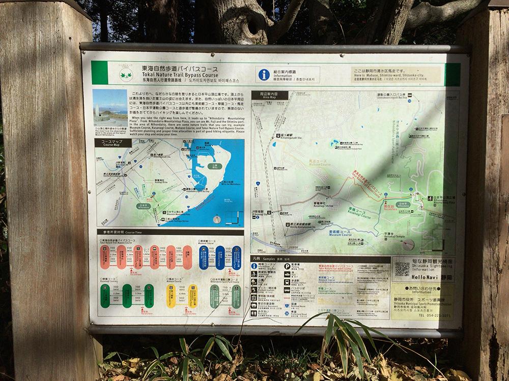 日本平ハイキングコース-全体図
