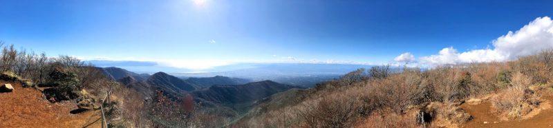 十里木からの越前岳のパノラマ