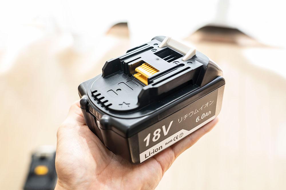 マキタの18V互換バッテリー